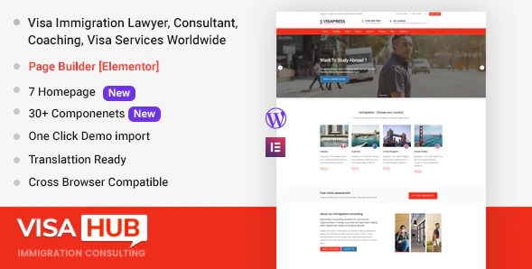 6 лучших WordPress тем для визового центра