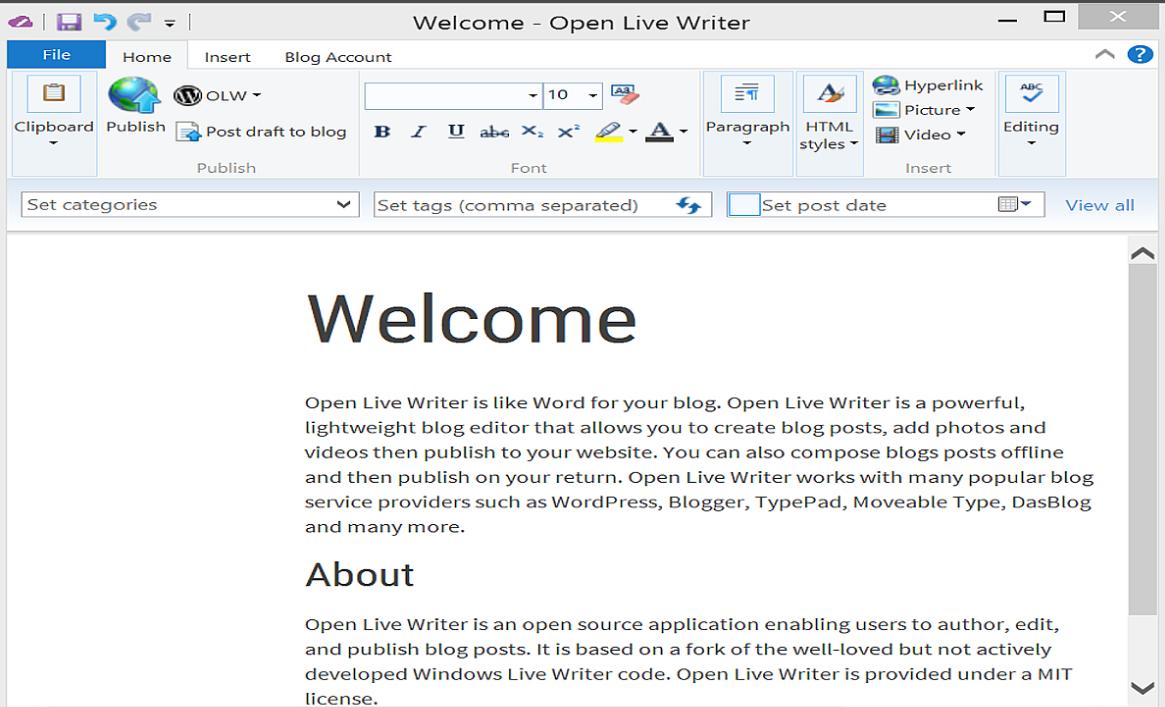 Программа WindowsLiveWriter как альтернатива админке WordPress