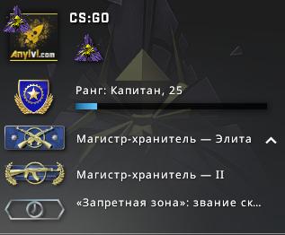 Купить аккаунт кс го Master Guardian Elite, 88 часов