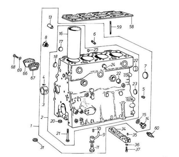 Двигатель д3900 блок