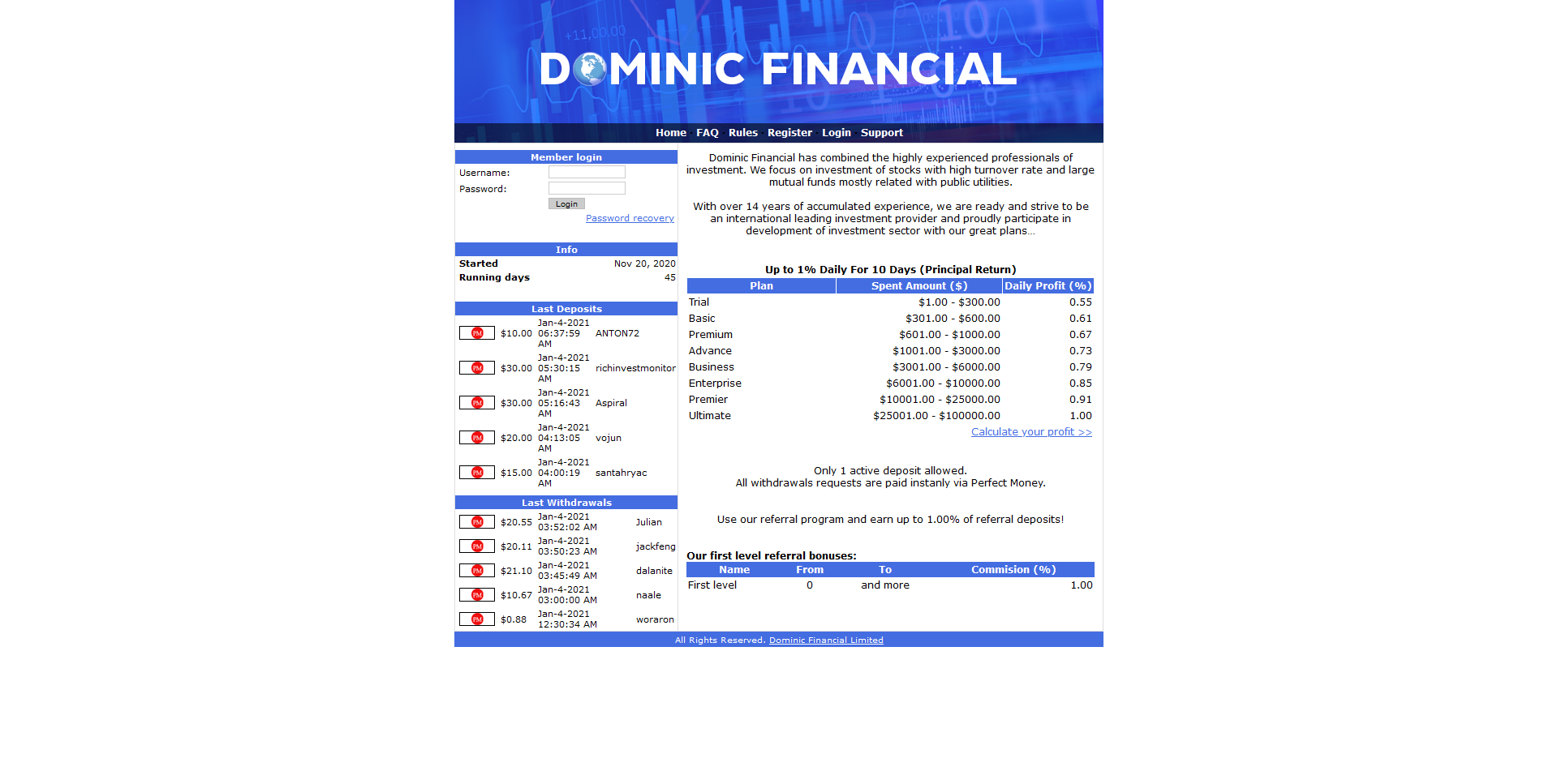 Dominic Financial Limited