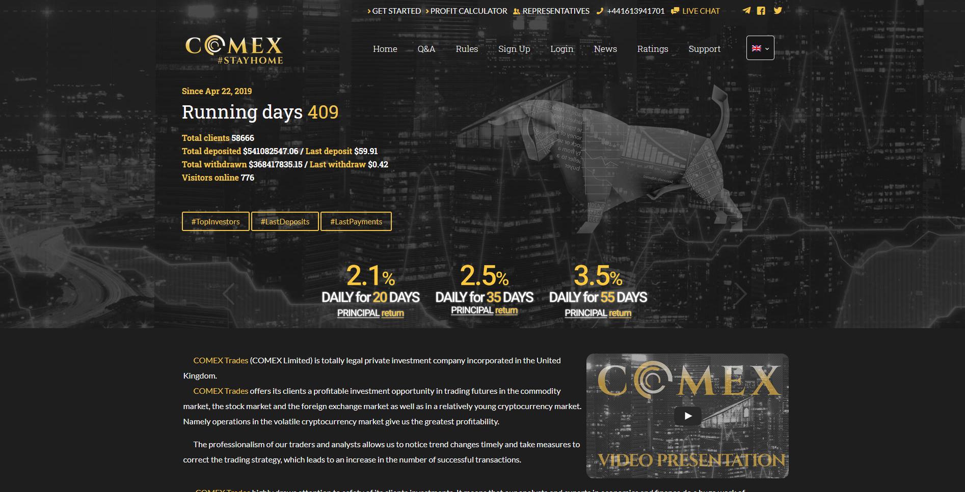 COMEX Trades - comextrades.com