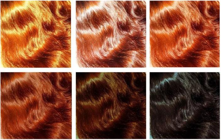 Цвет волос покрашенных хной