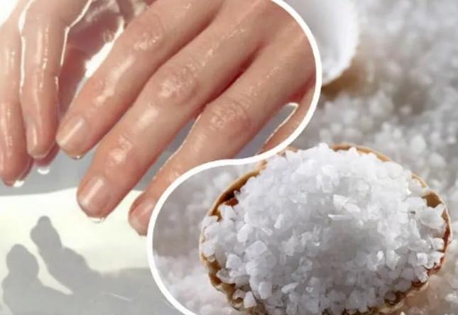 солевая ванна для рук и ногтей