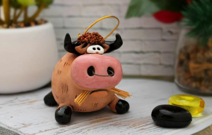 Новогодняя игрушка бык своими руками