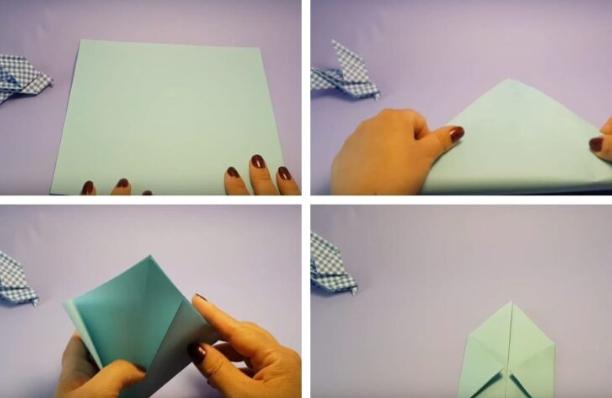 Открытка с голубем оригами