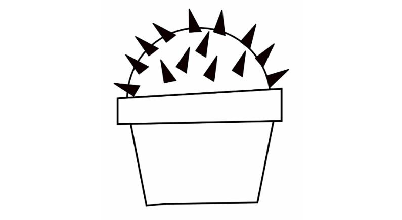 Как нарисовать кактус. Рисунки для срисовки. Кактусы раскраски для детей.