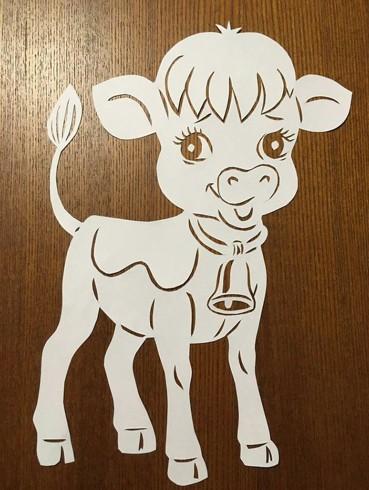 Вытынанки 2021 новый год быка