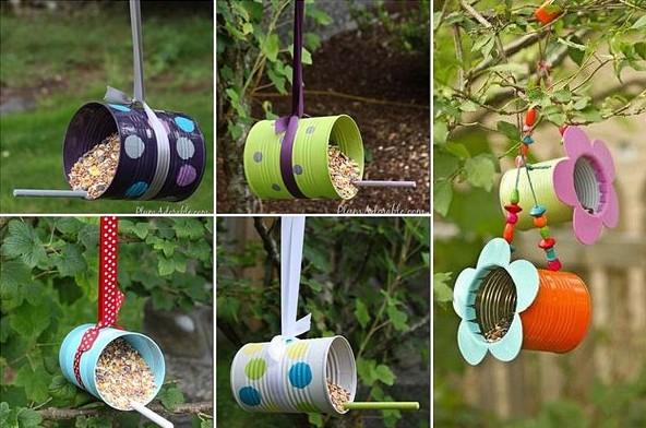 Кормушки для птиц из подручных материалов