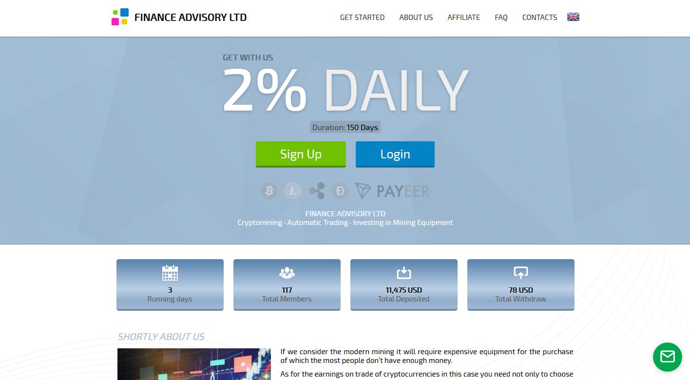 FINANCE ADVISORY LTD - Finadv.ltd