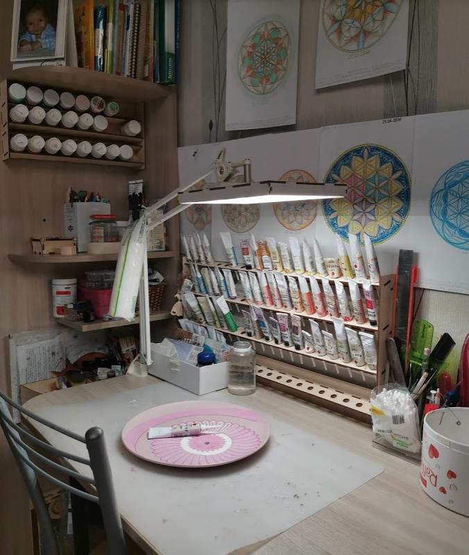 Про контуры и мое рабочее место, органайзер для контуров, контуры акриловые, творческое пространство, рабочее место