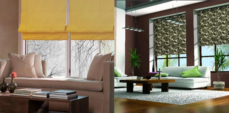 Рулонные шторы в гостиную