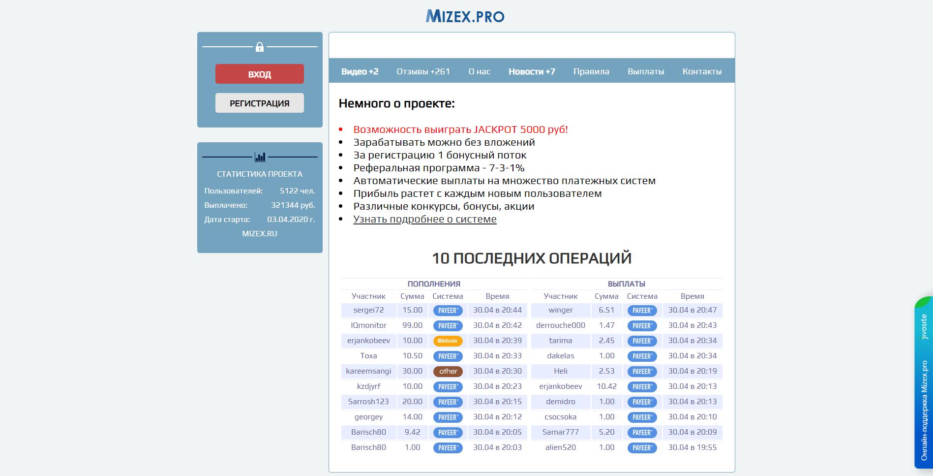 mizex - mizex.pro
