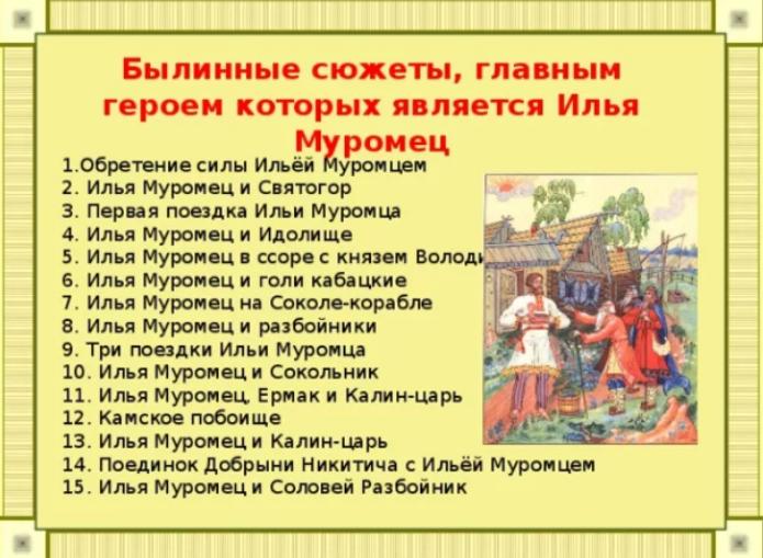 15 былин об Илье Муромце